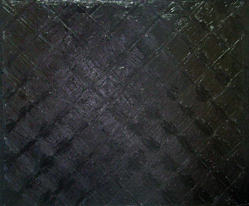 Pure Black, wet diamond pattern : black minimalism, abstract, geometric, diamond pattern, wet, glossy surface, pure black color, abstract acrylic painting 2038,2004 | Kazuya Akimoto Art Museum