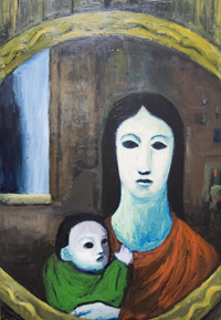 Mother and Child in the mirror