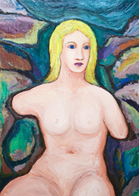 New, Mythological Symbolism, Roman/Greek mythology,  female,woman portrait, human figure, abstract human body form, colorful acryli painting #6449, 2007 | Kazuya Akimoto Art Museum