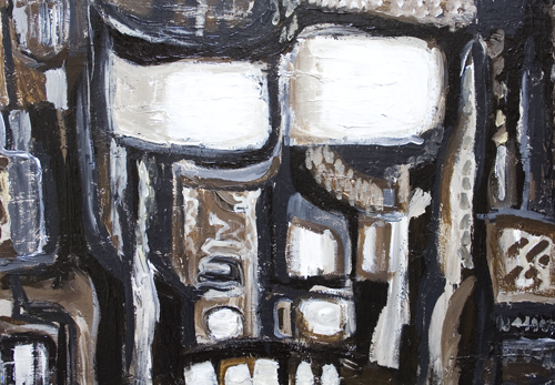 New, primitive, human face, scratched , scribbled, graffiti, expressionism, deforme, monotone, rough, human face acrylic painting #6784, 2007 | Kazuya Akimoto Art Museum