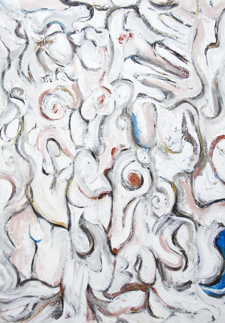 new, Christian fiction, literature  theme, abstract white color symbolism, white abstract expressionism, abstract surrealism, acrylic painting# 7362, 2008 | Kazuya Akimoto Art Museum