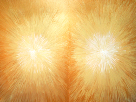 The New Life (Dante, 'La Vita Nouva') : light symbolism, literature theme, abstract gold color, juxtaposition, metallic gold color, radiation, light symbolism acrylic painting #3085, 2004 | Kazuya Akimoto Art Museum