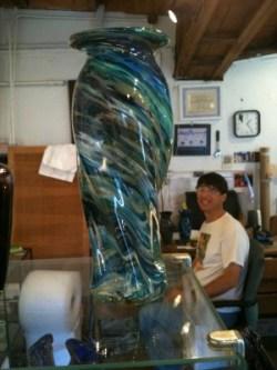 Kevin Baker glass blowing artist