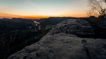 Sonnenuntergang auf dem Gamrig