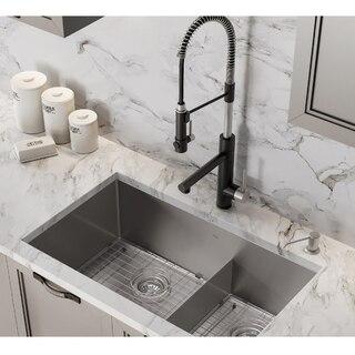 kraus khu103 32 standart pro 32 inch 16 gauge undermount 60 40 double bowl stainless steel kitchen sink