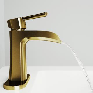 vigo vg01041k1 paloma single hole bathroom faucet with deck plate