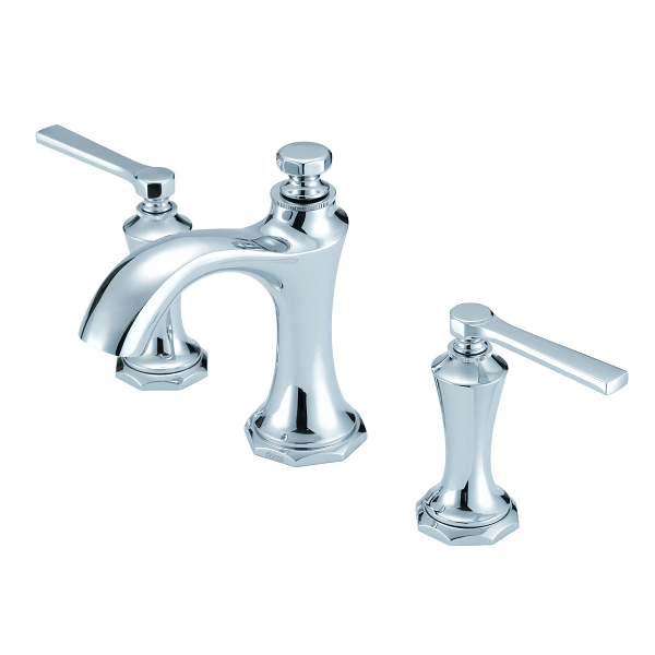 rohl a1408lm 2 viaggio c spout widespread lavatory faucet metal levers