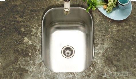 houzer cs 1307 1 undermount 12 1 2 inch small club bar prep sink series