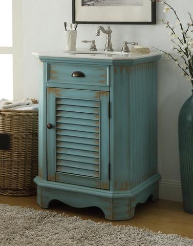 chans furniture cf 47523bu abbeville 24 inch light blue bathroom sink vanity