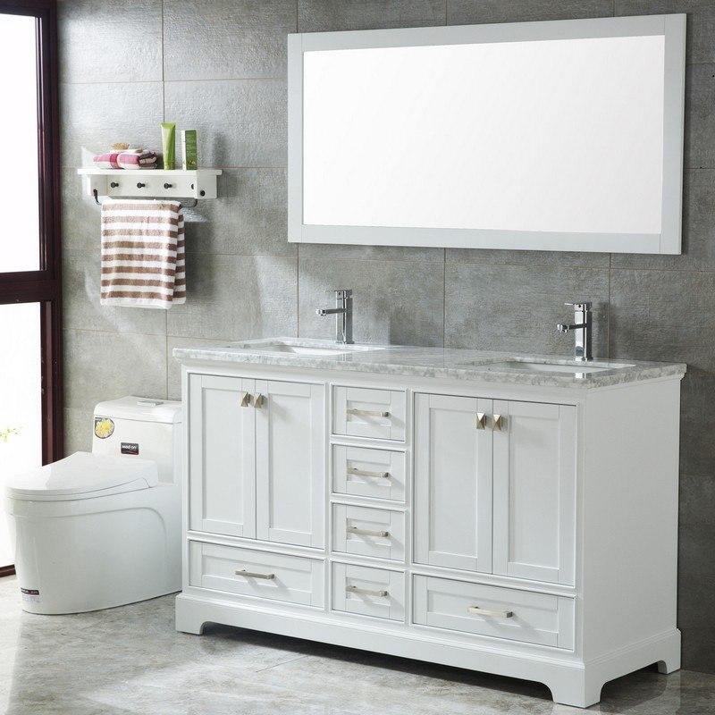 Mtd Mtd 7111 60mw Havana 60 Inch Double Sinks Modern Bathroom Vanity In White Mtd 7111 60mw Mtd711160mw