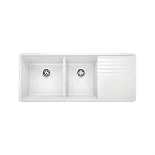 blanco 440410 precis granite 48 inch kitchen sink in white