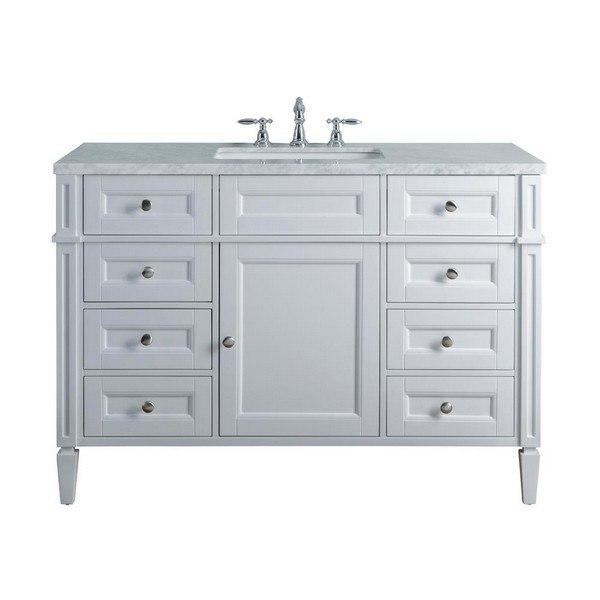 https www kbauthority com stufurhome hd 1524w 48 cr anastasia french 48 inch white single sink bathroom vanity html