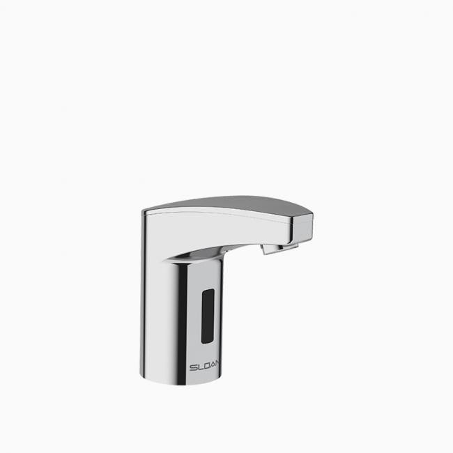sloan 3335110 optima eaf350 cp 0 5 gpm deck mount battery mid body faucet with aerated spray polished chrome
