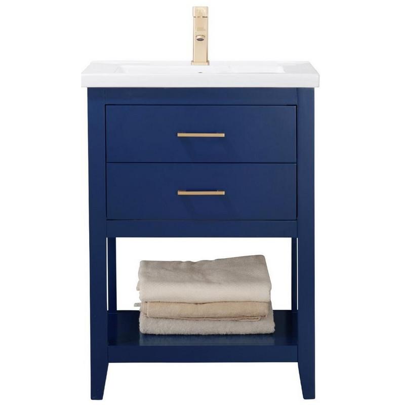 Design Element S02 24 Blu Cara 24 Inch Bath Vanity In Blue