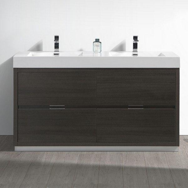fresca fcb8460go d i valencia 60 inch gray oak free standing double sink modern bathroom vanity