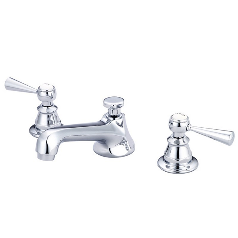 water creation f2 0009 tl american 20th century classic widespread lavatory faucets with pop up drain with torch lever handles hot and cold labels
