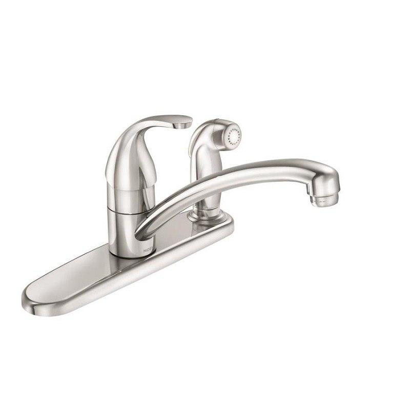 moen 87604 adler chrome one handle kitchen faucet