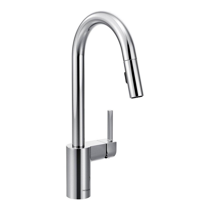 moen 7565 align one handle high arc pulldown kitchen faucet