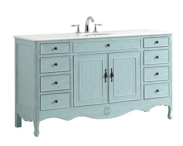 modetti mod081lb 60s provence 60 inch single bathroom vanity set in light blue