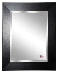Rayne Mirrors R037LV 42 x 36 Inch Black Wide Leather Wall ...
