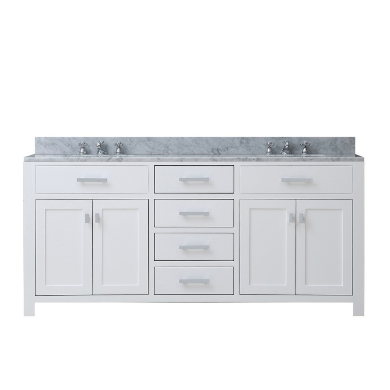 water creation madison72w madison 72 inch pure white double sink bathroom vanity