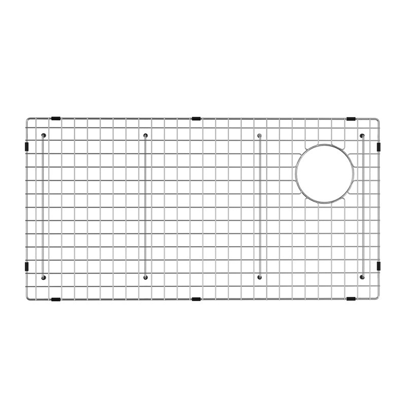 kraus kbg gr2514 bellucci series 25 25 x 14 25 inch stainless steel kitchen sink bottom grid with soft rubber bumpers