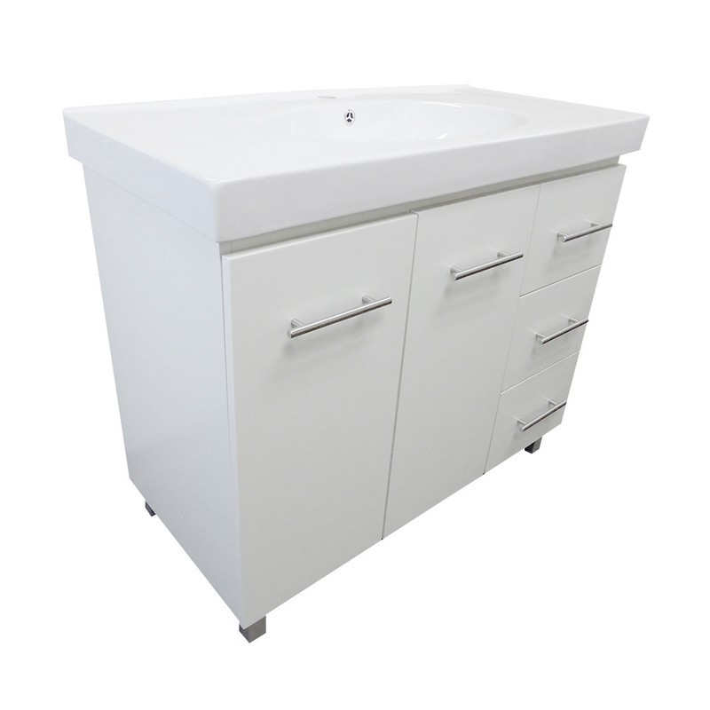 bellaterra 203129 wh r 39 inch single sink vanity in white right side drawers