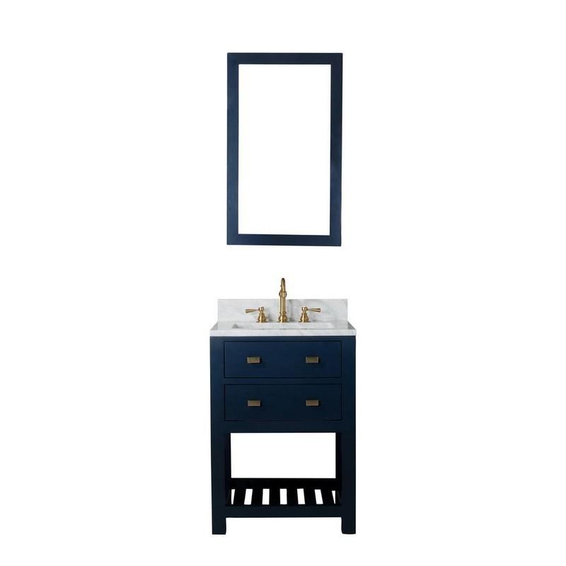 Water Creation Ma24b 0600mb Madalyn 24 Inch Monarch Blue Single Sink Bathroom Vanity With Mirror