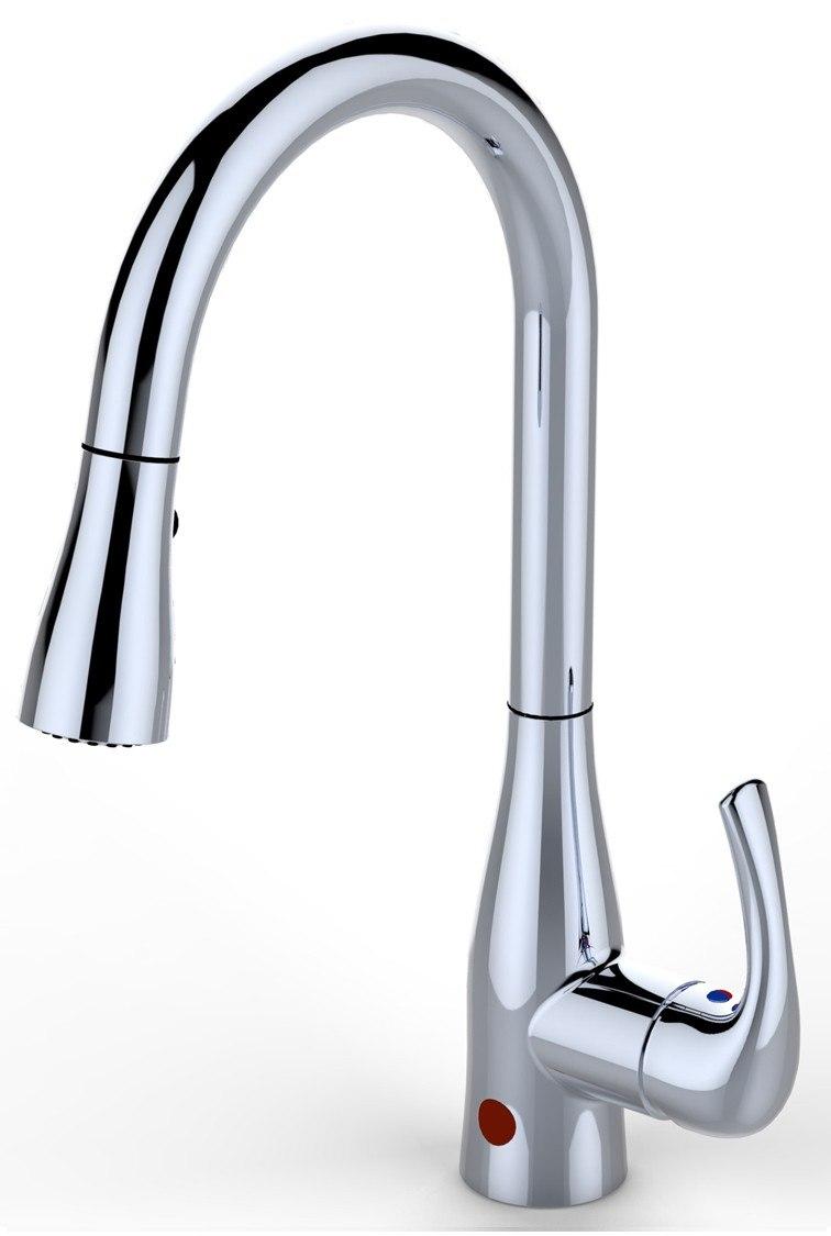 delta motion sensor kitchen faucet kohler sinks bio bidet up7000 single handle pullout flow ...