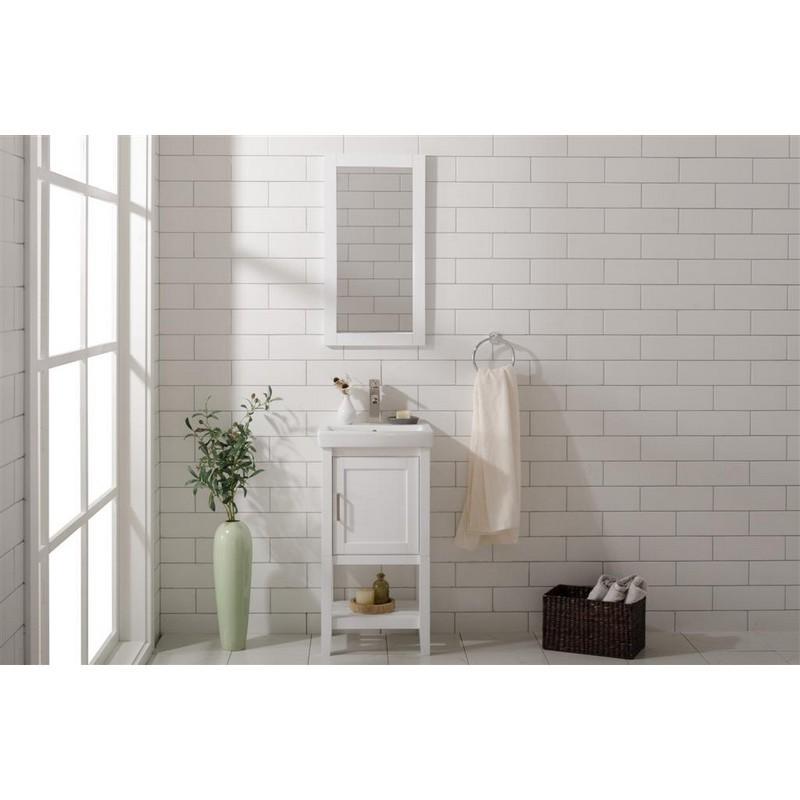 legion furniture wlf9018 w 18 inch white sink vanity in white