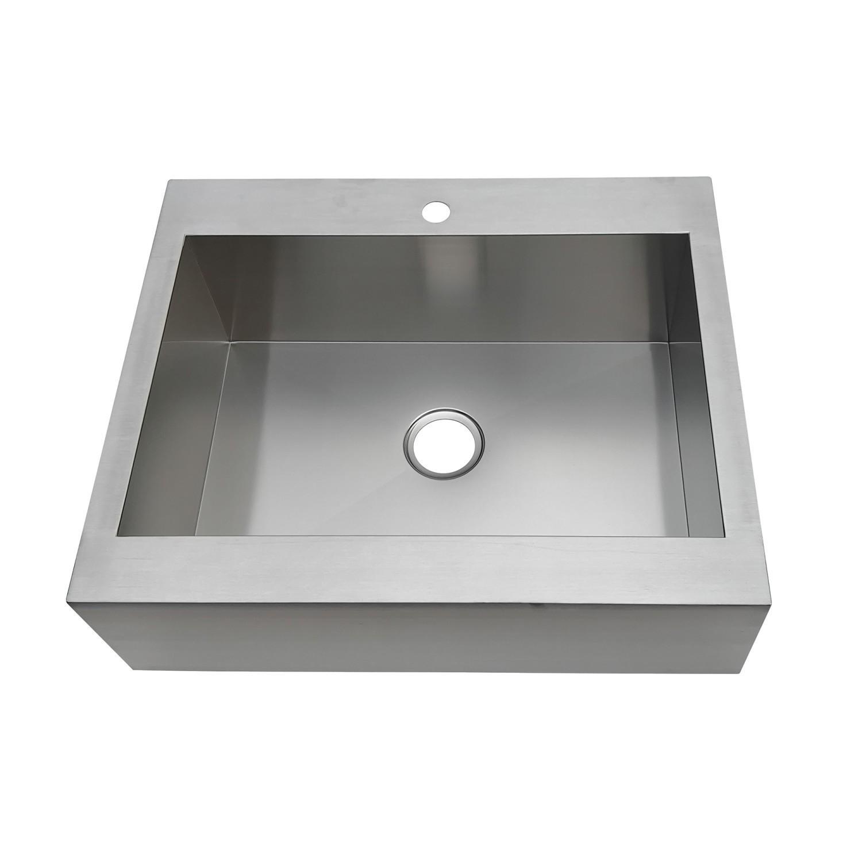 Kingston Brass Gktsf302491 Edinburg Drop In 30 Inch Single Bowl Kitchen Sink