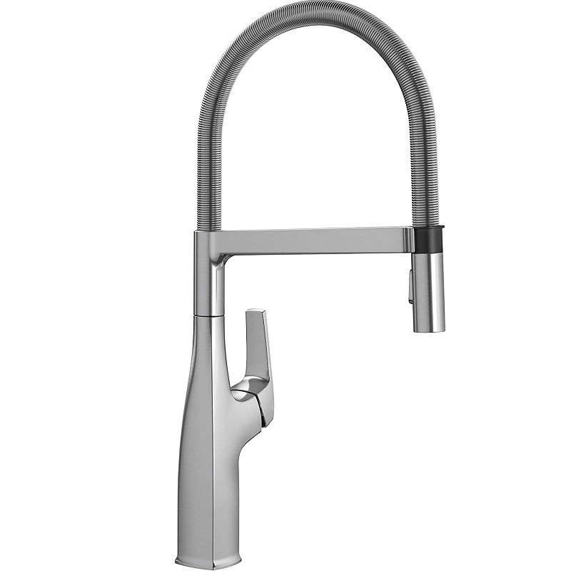 blanco 442676 rivana semi pro kitchen faucet in stainless