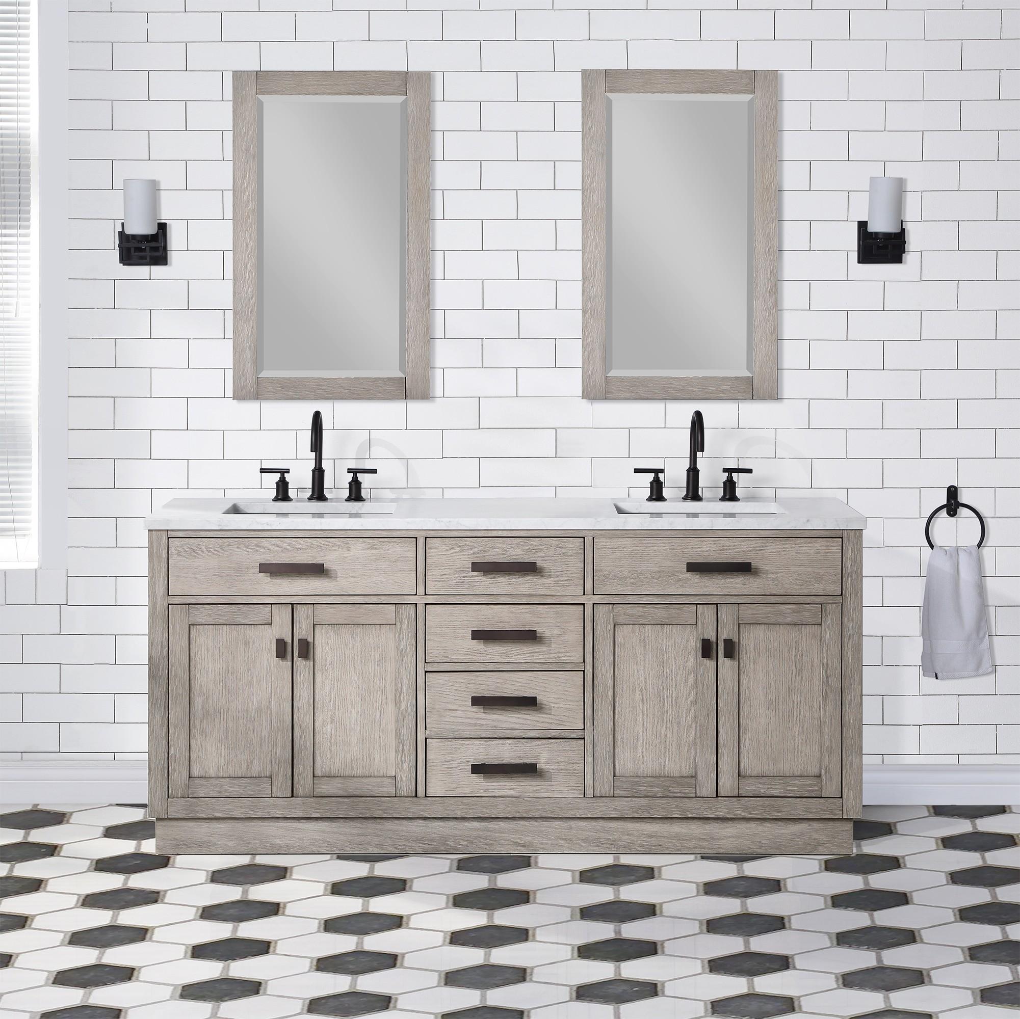 Water Creation Ch72a 0300gk Chestnut 72 Inch Double Bathroom Vanity In Grey Oak Ch72a 0300gk Ch72a0300gk