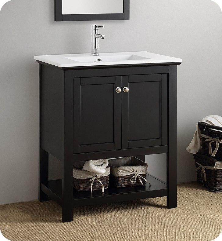 fresca fcb2305bl i manchester 30 inch black traditional bathroom vanity