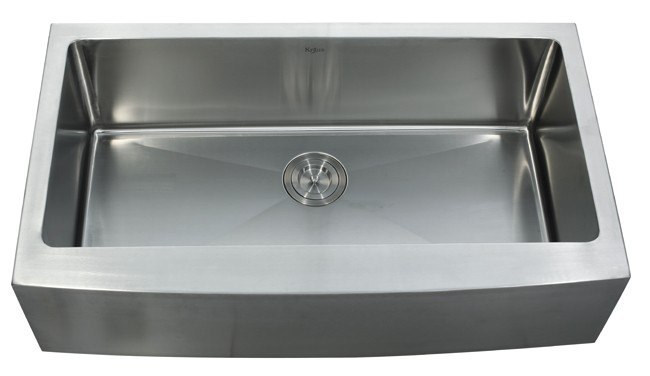 kraus khf200 36 36 inch farmhouse single bowl 16 gauge stainless steel kitchen sink