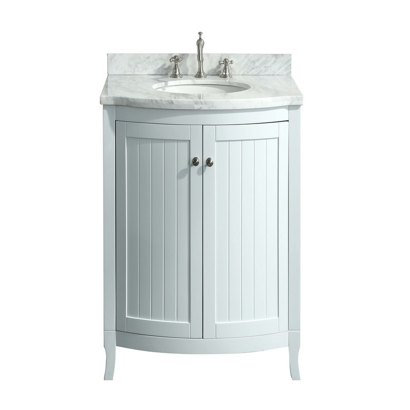 eviva evvn04 24 odessa zinx 24 inch bathroom vanity with white carrera marble counter top and porcelain sink