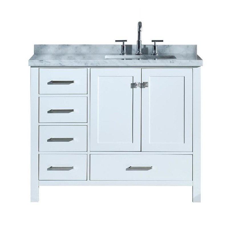 ariel a043srcwrvo cambridge 43 inch right offset single rectangle sink vanity