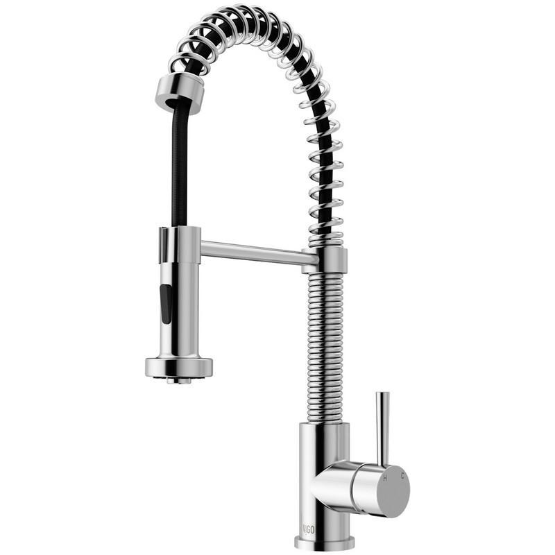 vigo vg02001 semi pro pull out kitchen faucet