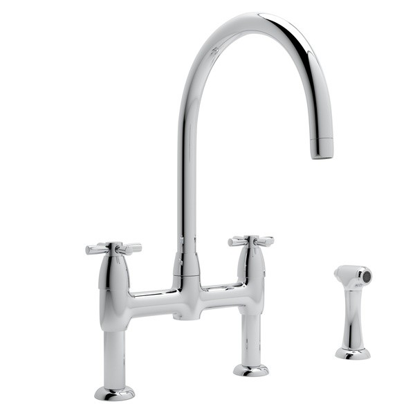 rohl u 4272x 2 perrin rowe holborn bridge single hole kitchen faucet with sidespray and five spoke handles