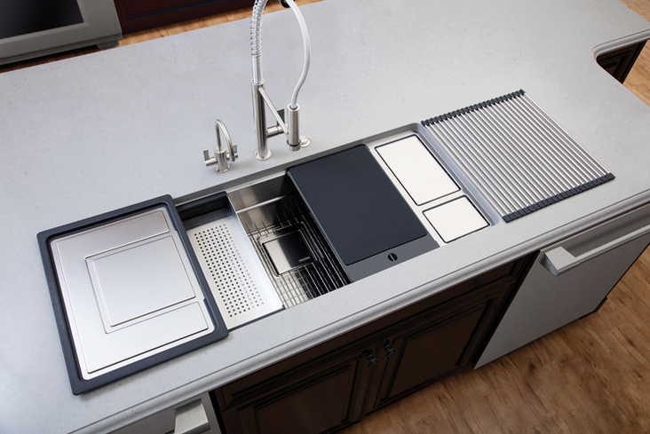 kitchen sink disposal hutch cabinet rca winner: franke   & bath business