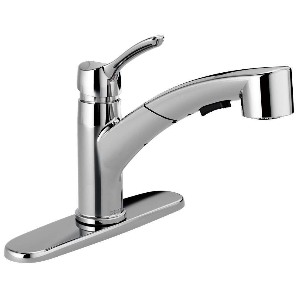 delta single handle kitchen faucet portable pantry faucets hole kitchens and 247 70 334 25 4140 dst brand collins