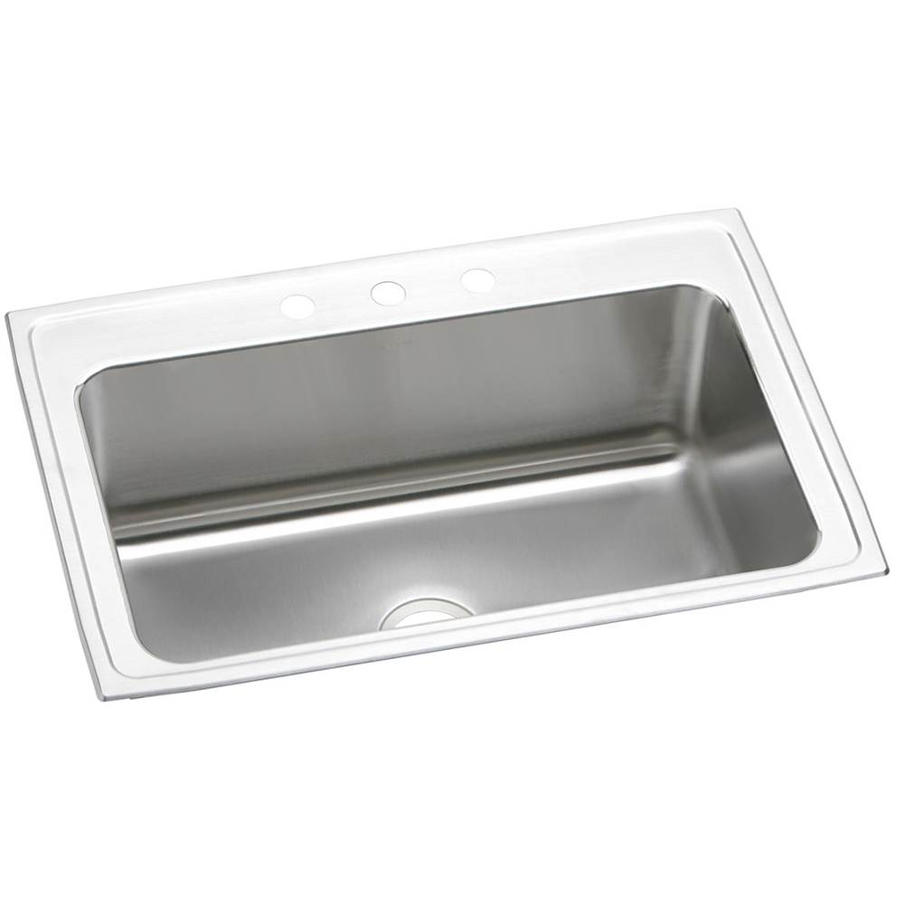 elkay kitchen sinks cheap motels with kitchens dlrs3322124 at and baths by briggs bath showroom lustertone classic stainless steel 33 x 22 11 5 8 single bowl top mount sink