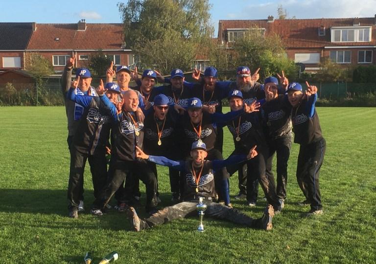 Hoboken Pioneers win Belgian Series Softball Men 2017