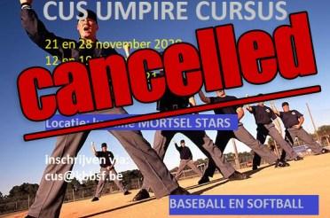 CUS Umpire Clinics 2020 – 2021