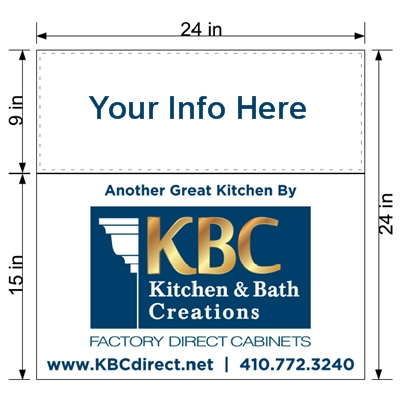 kitchen signs for work modern cabinet hardware professional installers lawn sign help you gain visibility provide valuable exposure