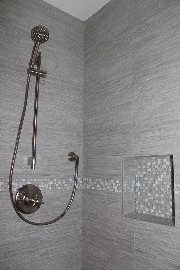 gray bathroom shower ideas k b