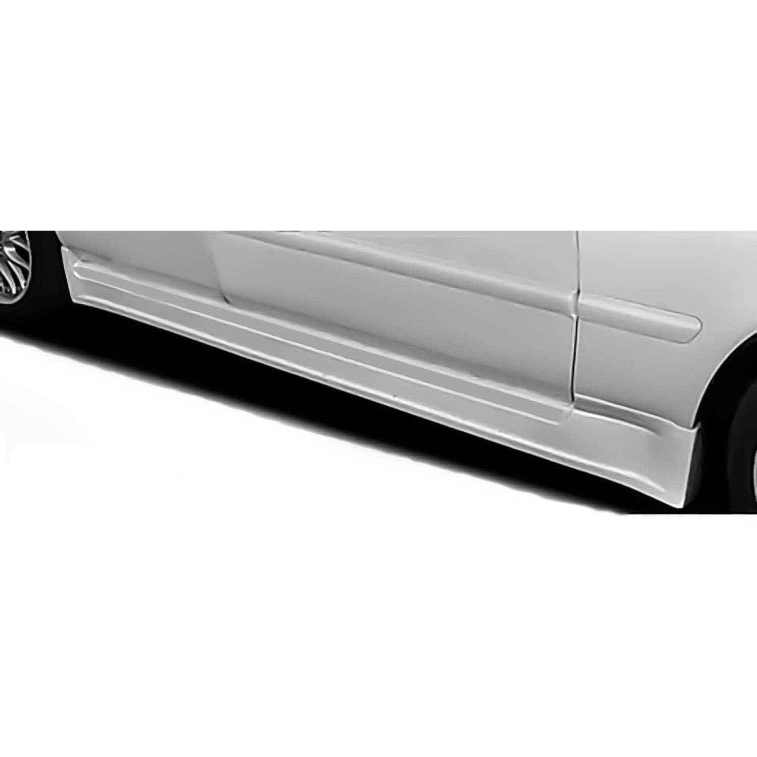 hight resolution of acura tl 1996 1998 type s style 2 piece polyurethane side skirts