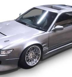 nissan 240sx s13 silvia coupe 1989 1994 bsport style 4 piece polyurethane full body kit [ 1346 x 811 Pixel ]
