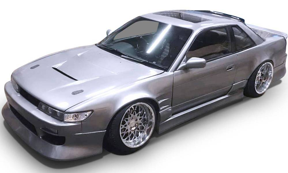 medium resolution of nissan 240sx s13 silvia coupe 1989 1994 bsport style 4 piece polyurethane full body kit