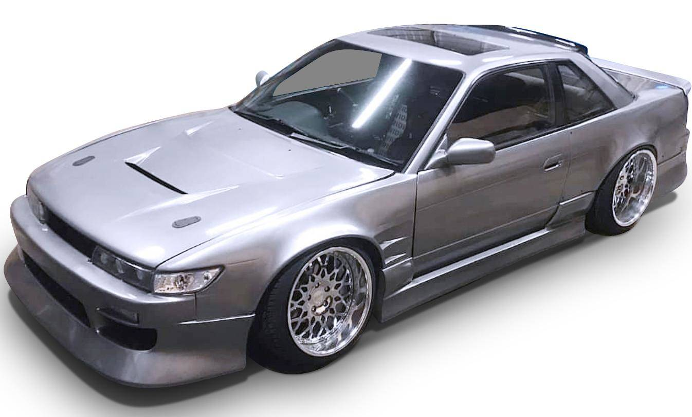 hight resolution of nissan 240sx s13 silvia coupe 1989 1994 bsport style 4 piece polyurethane full body kit